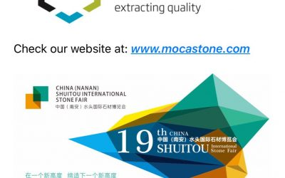 A Moca Stone estará presente na Shuitou International Fair (China) em Novembro
